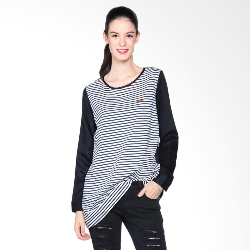 3 Second Ladies 10608172 Shirt 0608 Kaos Wanita - Blue