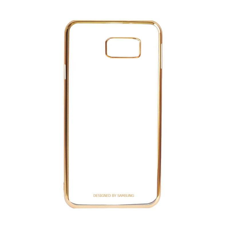 Samsung Shining List Chrome Hardcase Casing for Galaxy S7 Edge - Gold