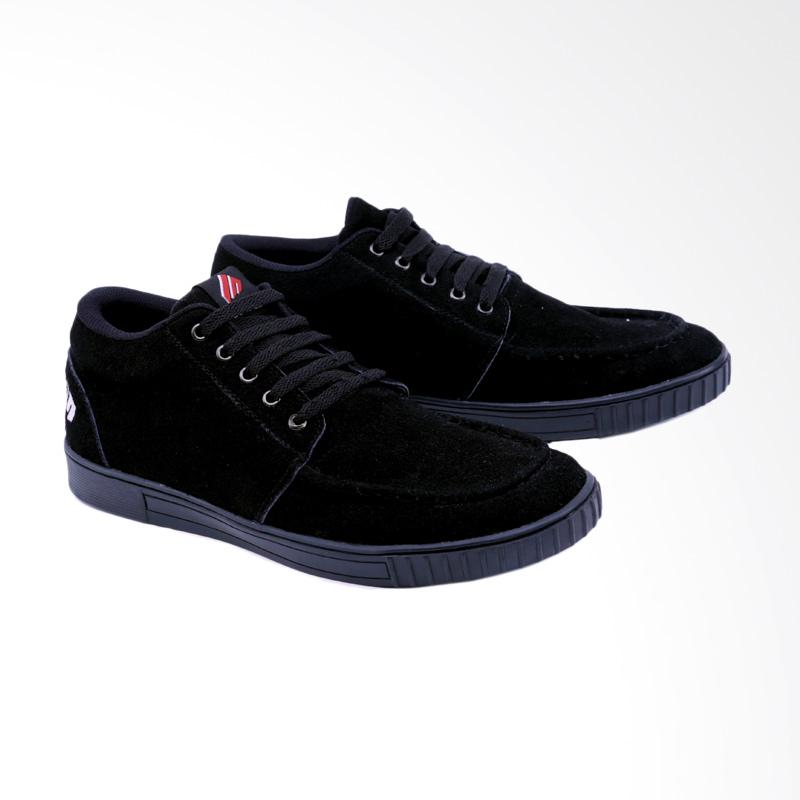 Garsel Sneakers Shoes Pria - Hitam GDG 1019