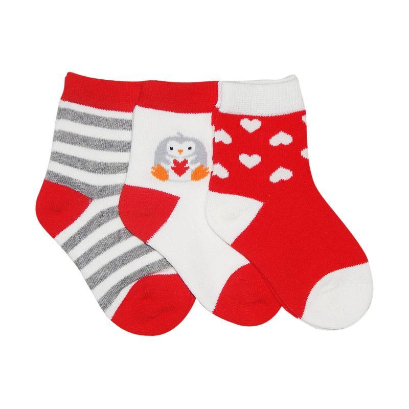 Wonderland Nemo Kids Socks - Merah [3 Pasang]