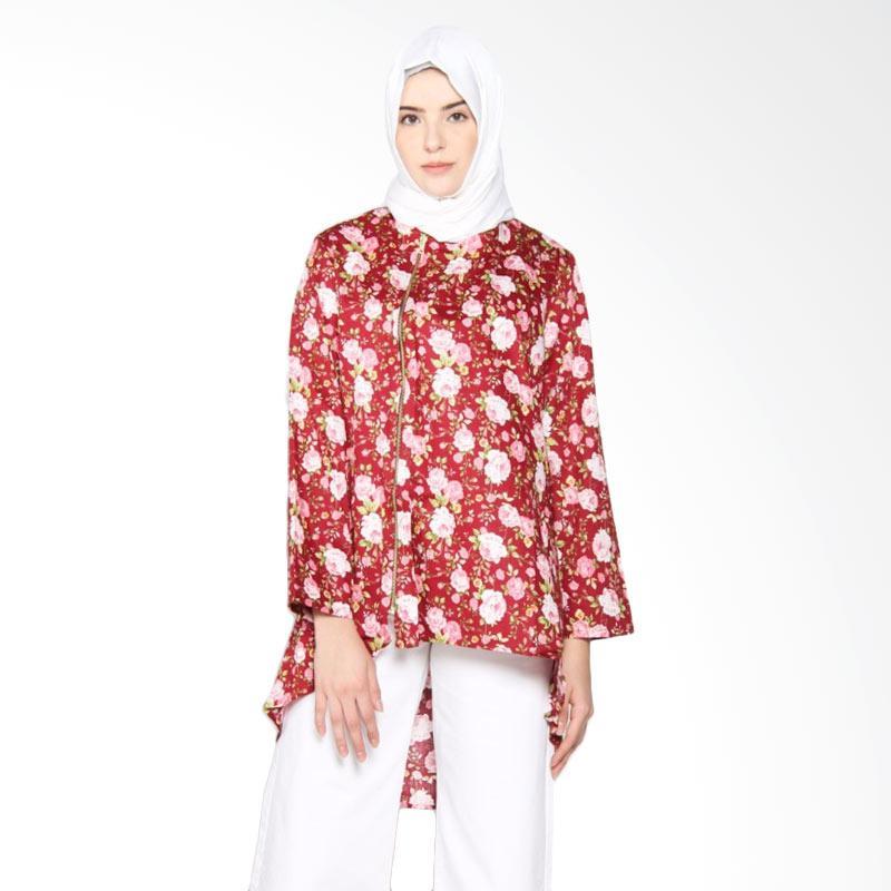 Rauza Rauza Wardah Top Blouse Muslim Wanita - Merah