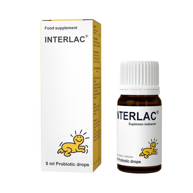 BioGaia Interlac Probiotic Drops Suplemen Kesehatan [5 mL]
