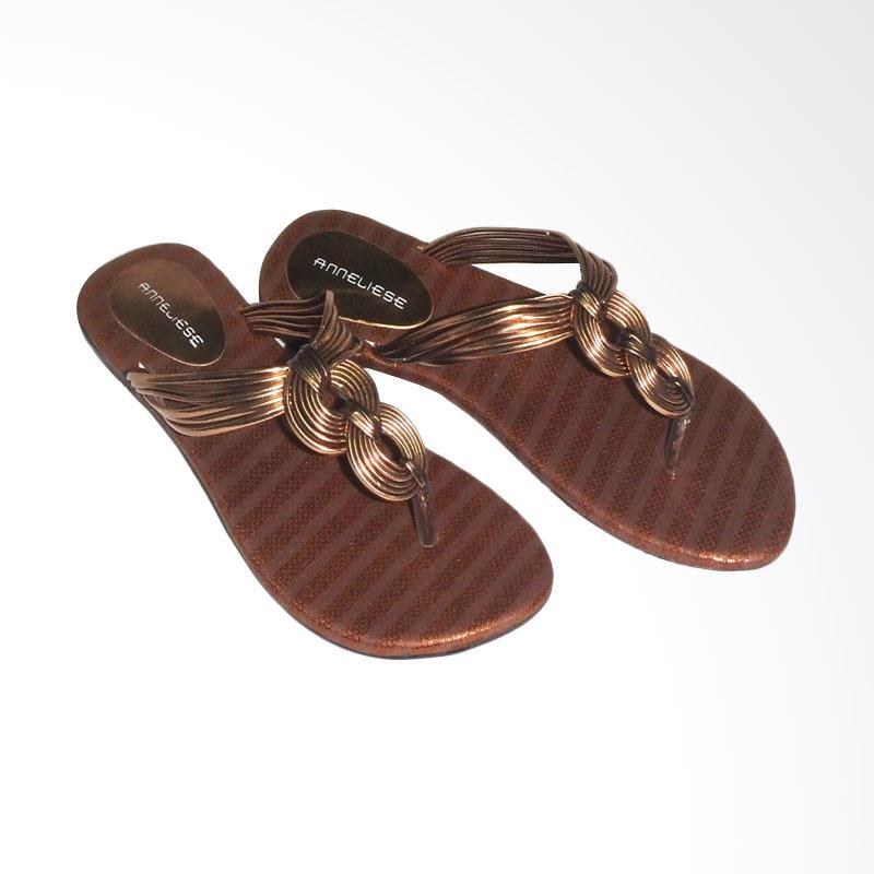 Anneliese Ussy Copper Sandal Flat Wanita