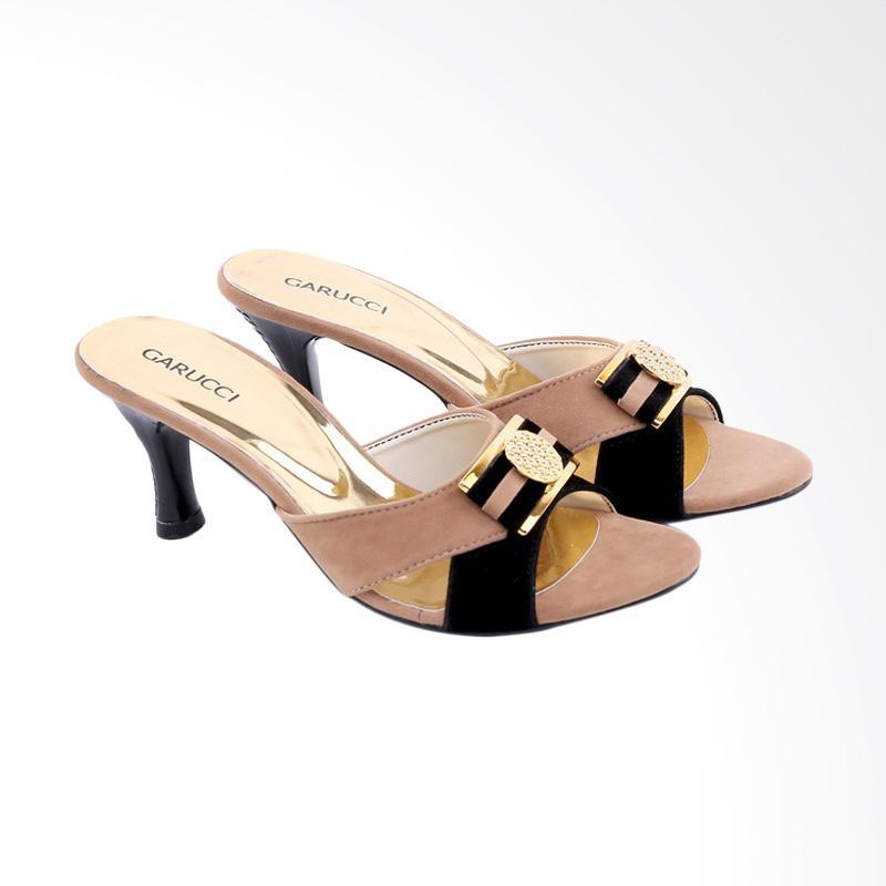 Garucci GGN 4242 Mid Low Sandals Heels Wanita - Cream