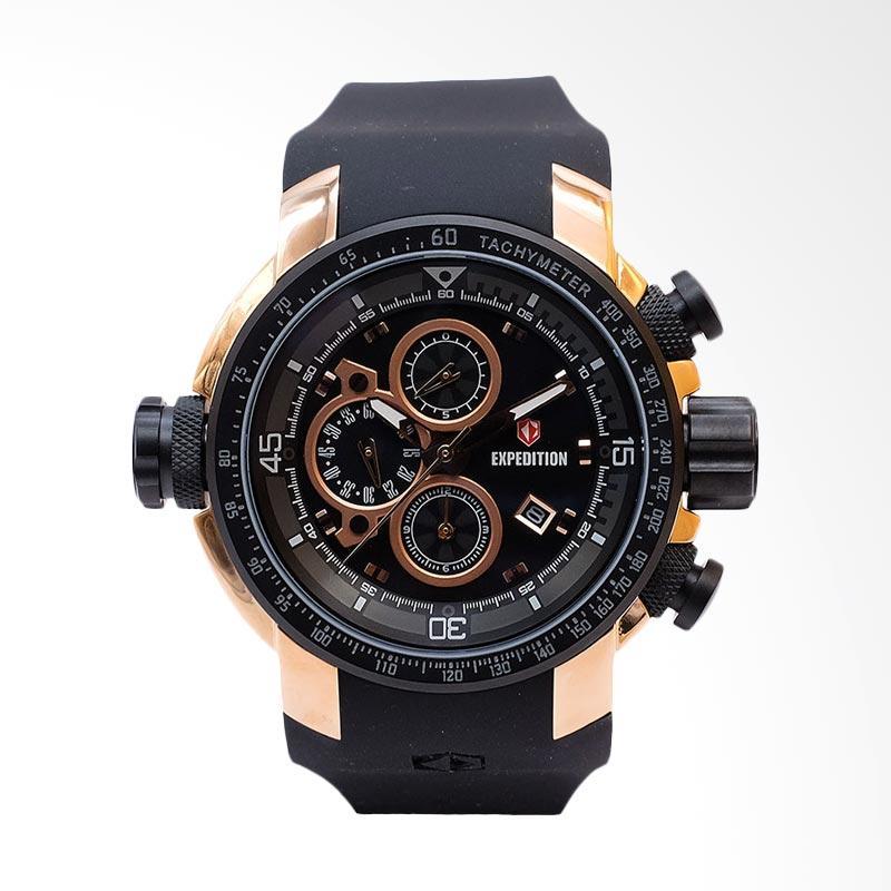 Expedition Man Black Dial Black Rubber Strap Jam Tangan Pria - Black EXF-6335-MCRBRBA