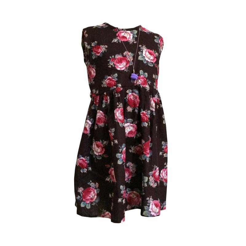 Kirana Kids Wear Raisa DR01B Dress Anak Perempuan - Dark Brown