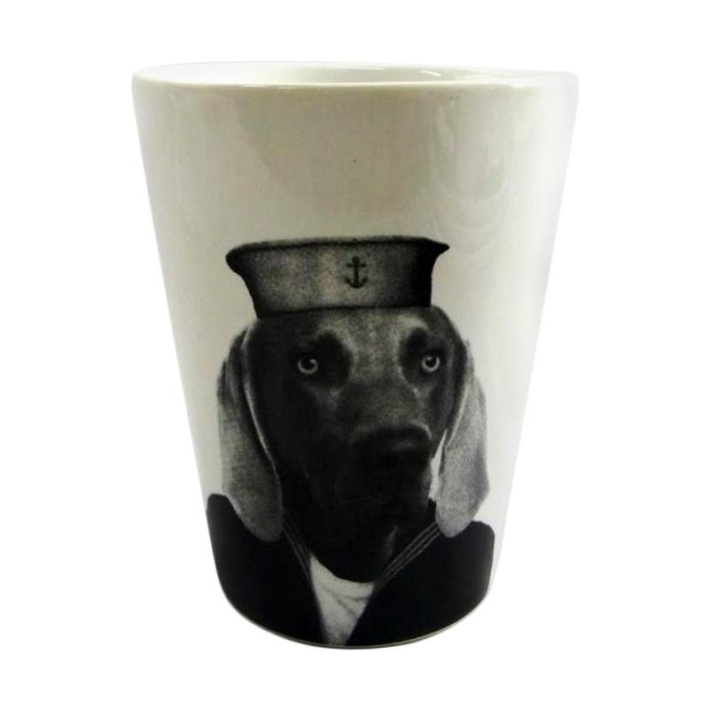 Sango Gambar Hewan Anjing Keramik Tumbler [350 mL]