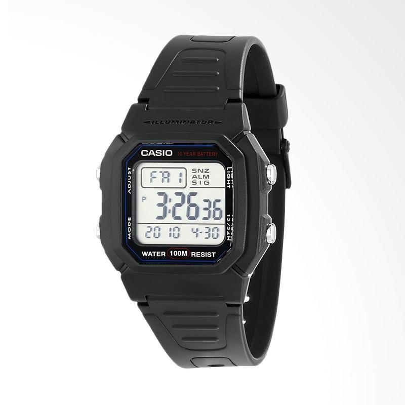 Casio Men's Classic Sport Watch with Black Band Jam Tangan Pria W800H-1AV