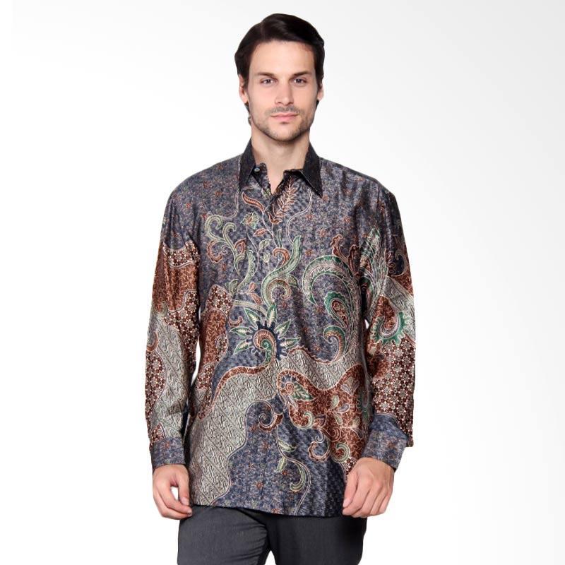 Batik Heritage Exclusive Linen Seaweed Kemeja Pria - Blue [Lengan Panjang]