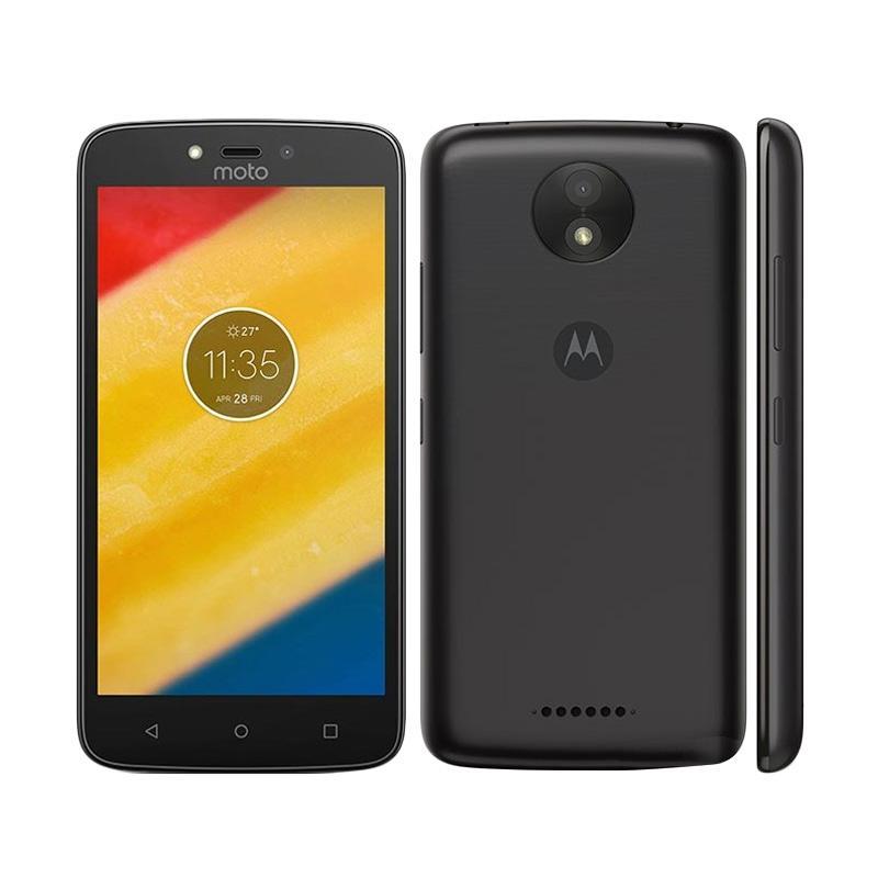 Motorola Moto C Plus Smartphone - Black [16GB/2GB] + Free Headphone Motorola