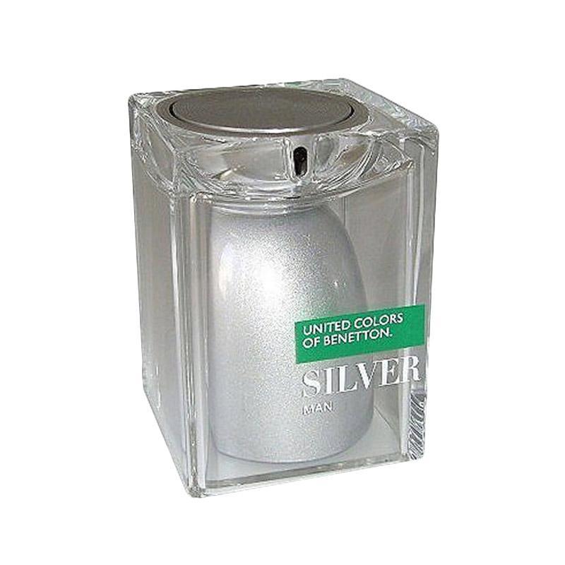 Benetton United Colors Silver Eau de Toilette Parfum Pria [75 mL]
