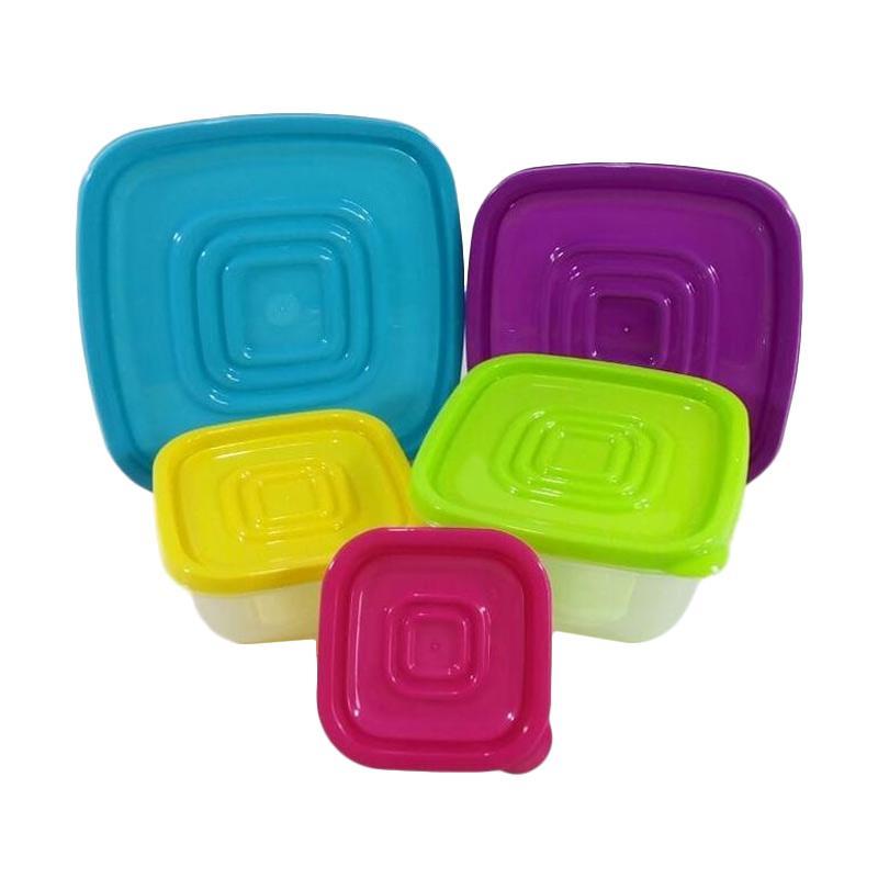 Toko49  Kotak Set Tempat Makanan [5 pcs]