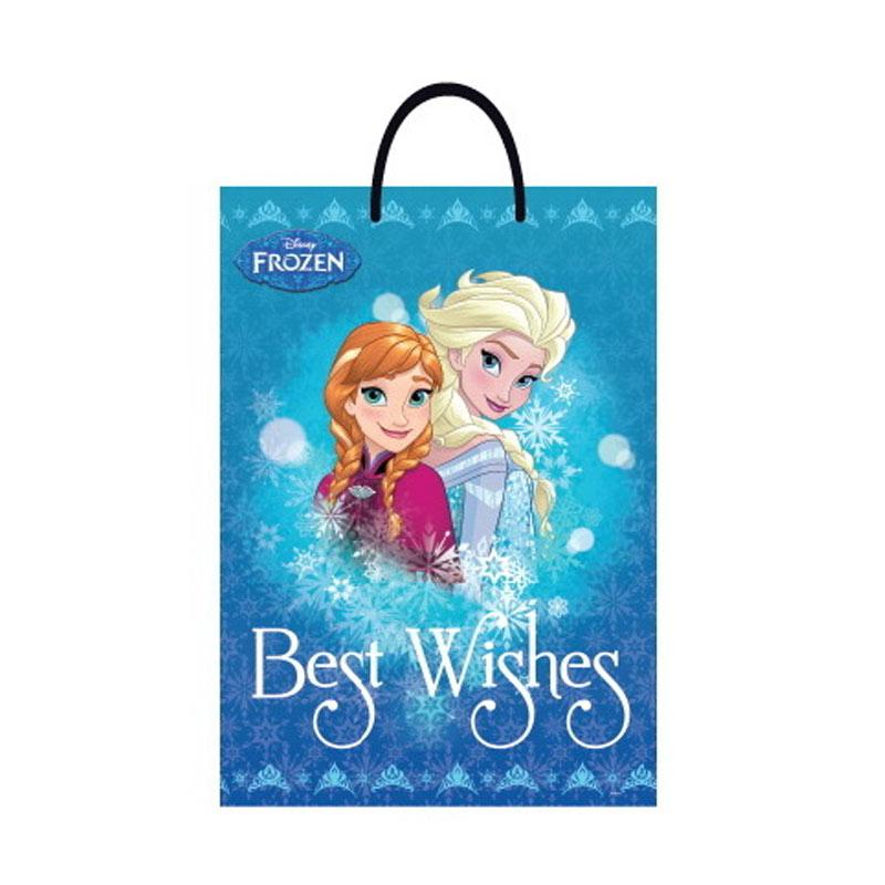 Something Sweet BA3346-PR008 Frozen Winter Anna & Elsa Best Wishes Jumbo Bag - Blue