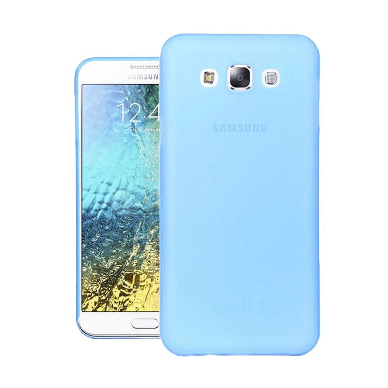 Ume Ultrathin Silicone Jelly Softcase Casing for Samsung Galaxy E7 E700 - Biru