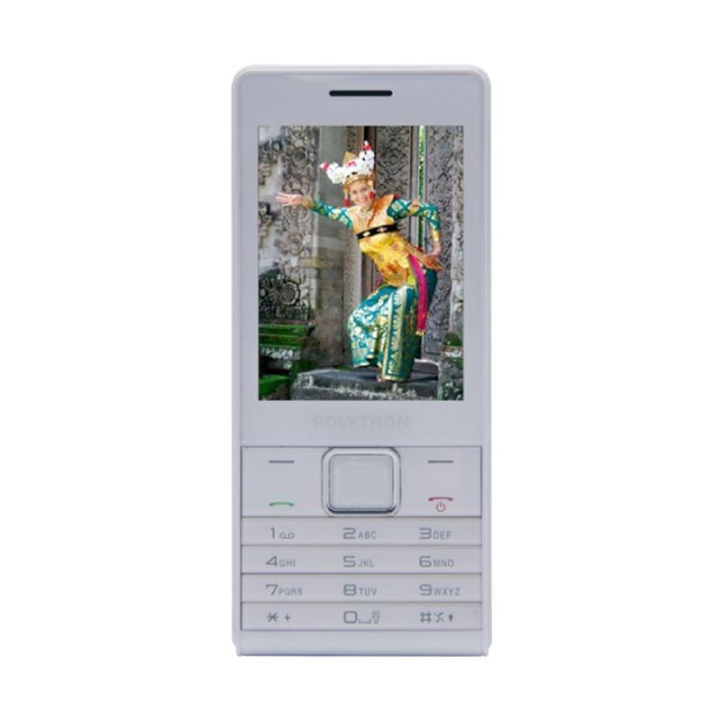 POLYTRON C285 Candybar Handphone - White [Dual SIM Card]