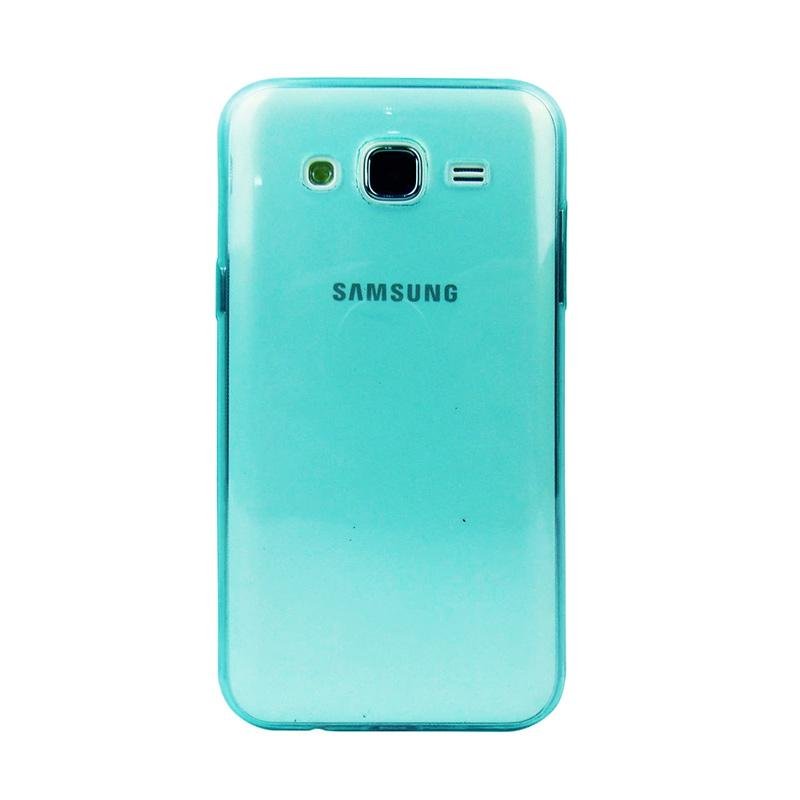Ume Ultrathin Silicone Jellycase Softcase Casing for Samsung Galaxy Core Prime G3608 - Biru