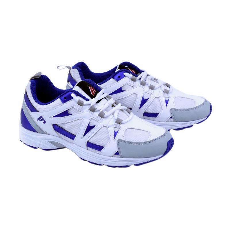 Garsel Running Shoes Sepatu Lari Pria - Putih Biru [TMI 7031]