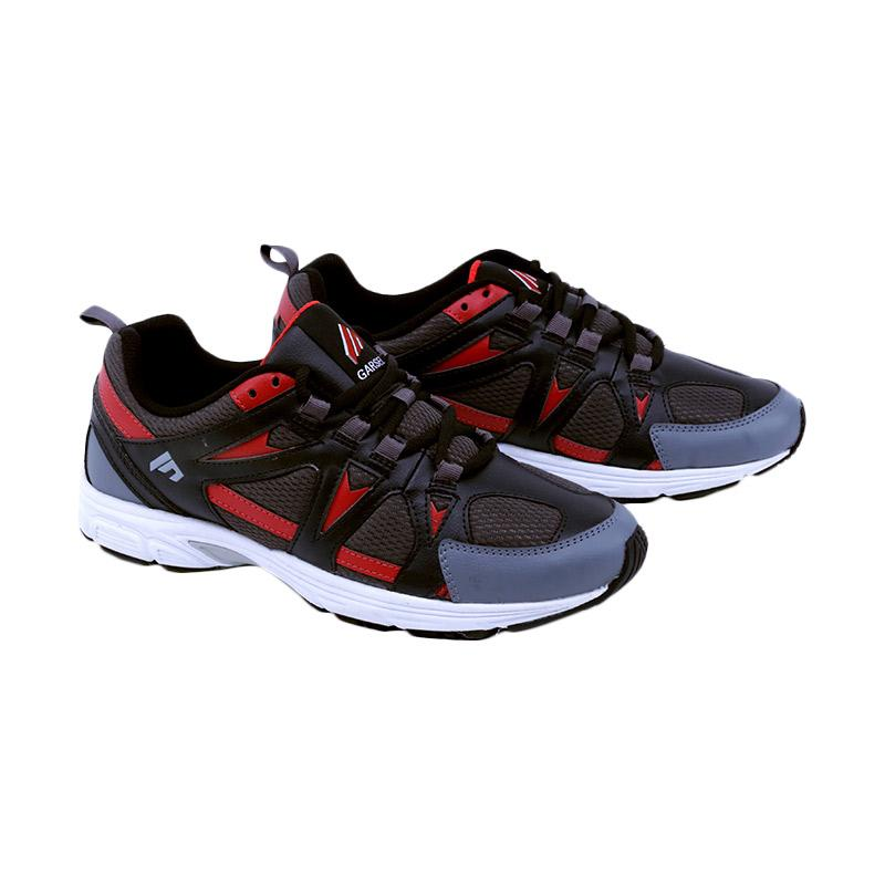 Garsel Running Shoes Sepatu Lari Pria - Hitam Kombinasi [TMI 7031]