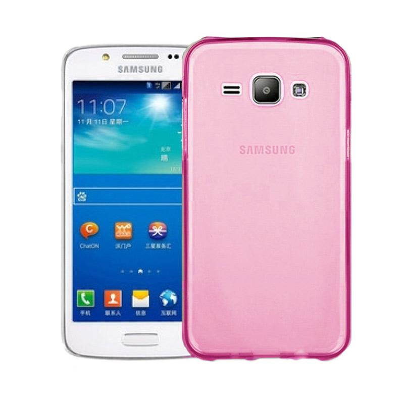 Ume Ultrathin Silicone Jellycase Softcase Casing for Samsung Galaxy J1 J100F - Pink
