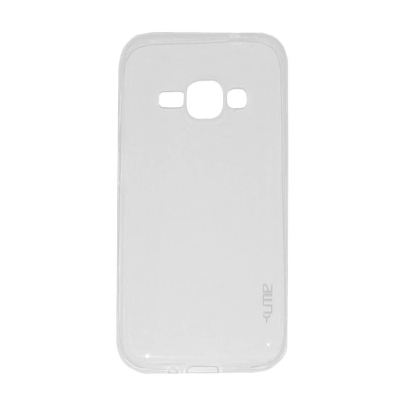 Ume Ultrathin Silicone Jellycase Softcase Casing for Samsung Galaxy J1 J100F - Transparan