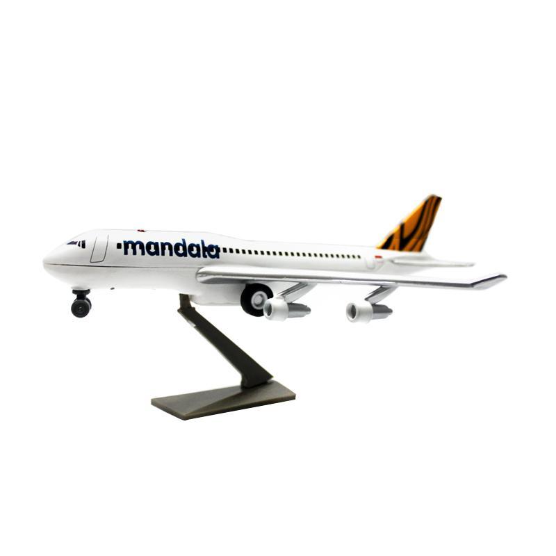 Enandem Pesawat Mandala Tiger Air Boeing B747 Diecast Miniature