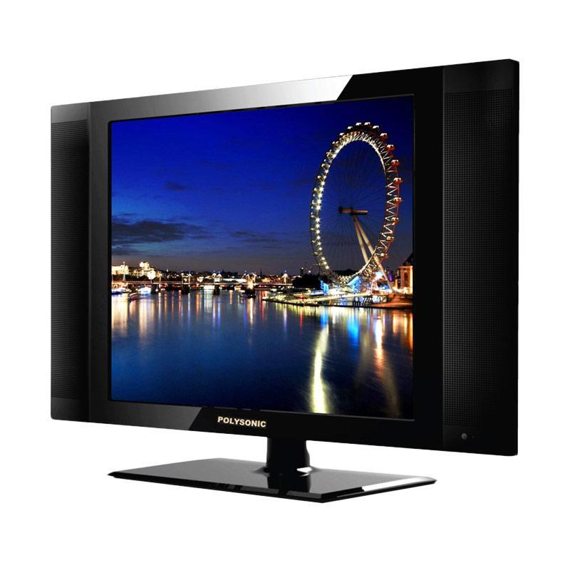 Polysonic 1777 LED TV - Hitam [17 Inch]