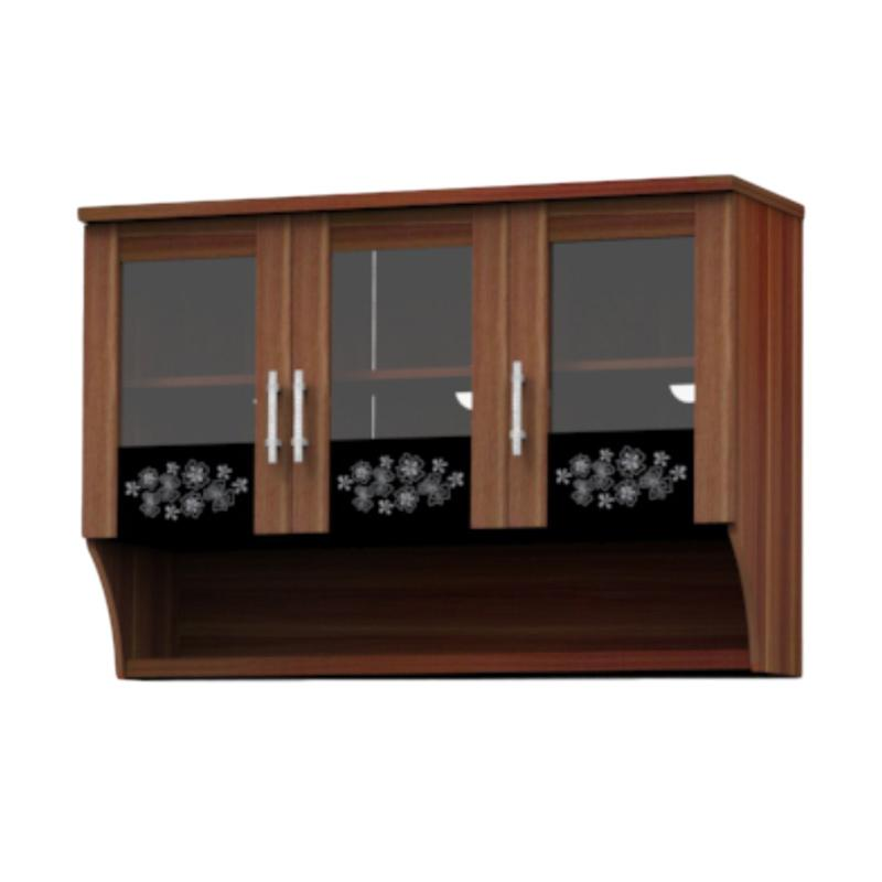 Super Furniture KSA 831 Modesto Kitchen Set Atas - Walnut