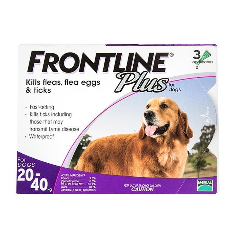 Jual Frontline Plus For Dogs 20 40 Kg Obat Kutu Anjing 3 Tubes Box Online Desember 2020 Blibli