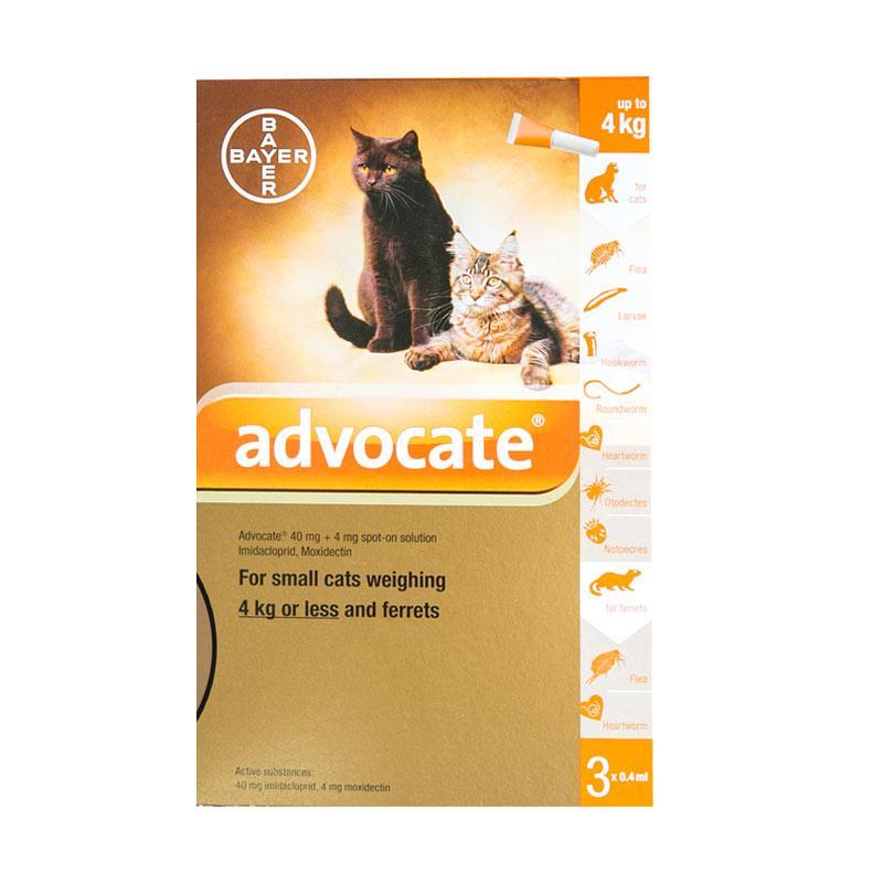 Advocate Obat Kutu Kucing Small up to 4 kg 3 Tube