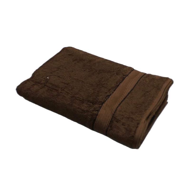 Chalmer Polos Handuk Mandi - Coklat Tua [70 x 140 cm]