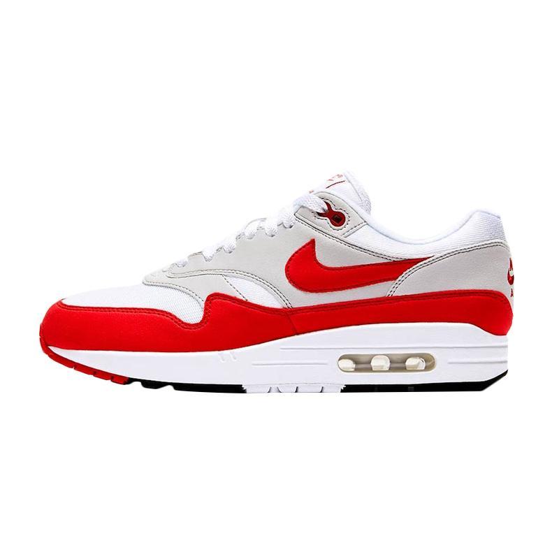 NIKE Men AM 1 Anniversary Red 2017 Sepatu Sneakers Pria - White Red [908375-103]