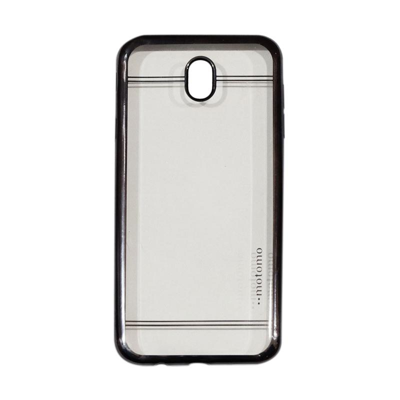 Motomo Luxury Shining Chrome Ultrathin Silicone Softcase Casing for Samsung Galaxy J5 Pro J530 2017 - Hitam