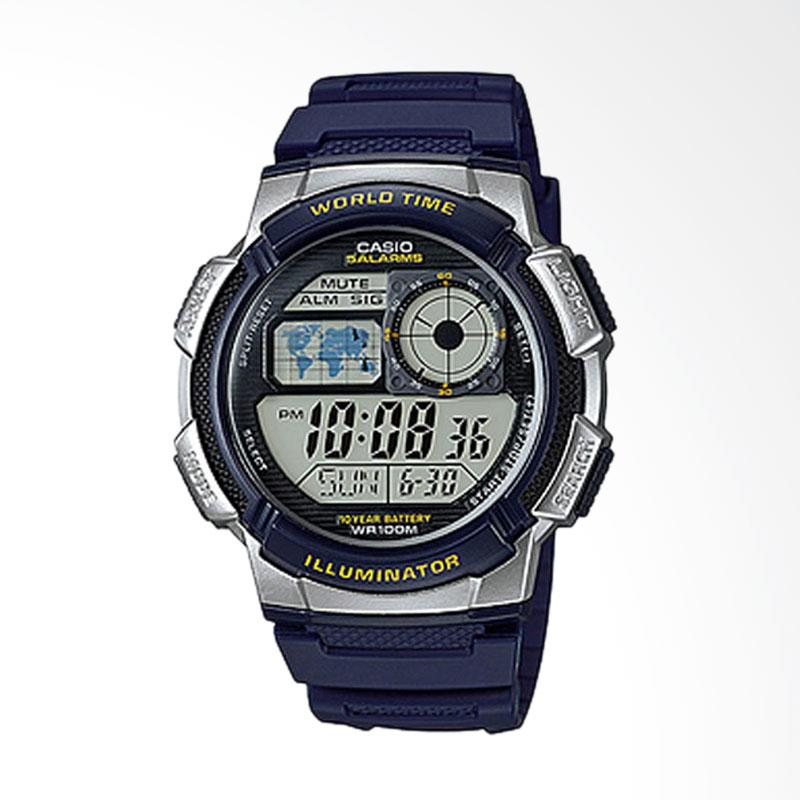 CASIO Illuminator Jam Tangan Digital Youth Series Tali Resin [AE-1000W-2AVDF]
