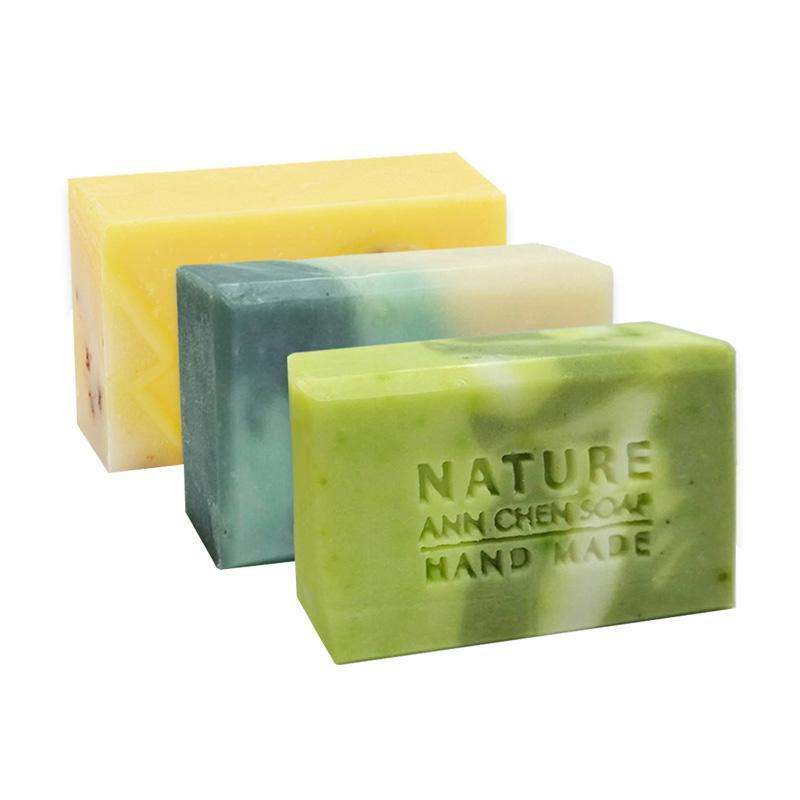 Ann Chen Handmade Soap Summer - 3Pcs Set [Green Tea&Aloe/ Mint&Cucumber/ Fresh Morning]