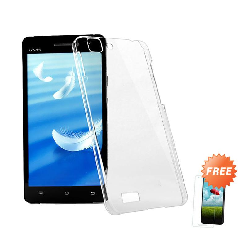 OEM Crystal Hardcase Casing for VIVO X3s Clear Free Tempered Glass .