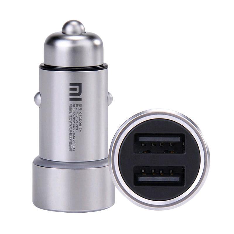 Xiaomi Original Mi Car Charger - Silver [Dual USB Port]