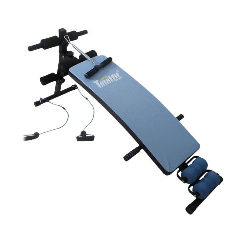 Total Fitness New Sit Up Bench Alat Fitness Blue