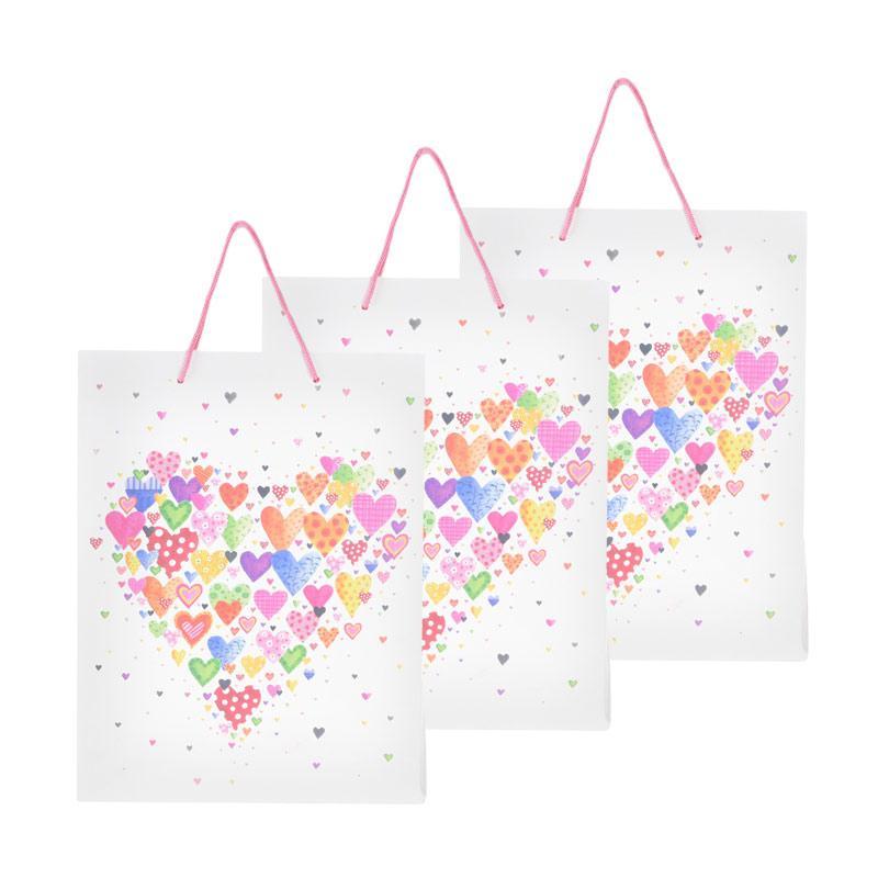Karisma 742435 Kemeja Love Warna Shopping Bag [3 pcs]
