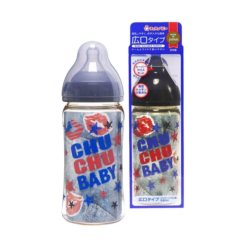 Chuchu PPSU Mama Cawa Wide Caliber Baby Feeding Bottle - Black [240 mL]