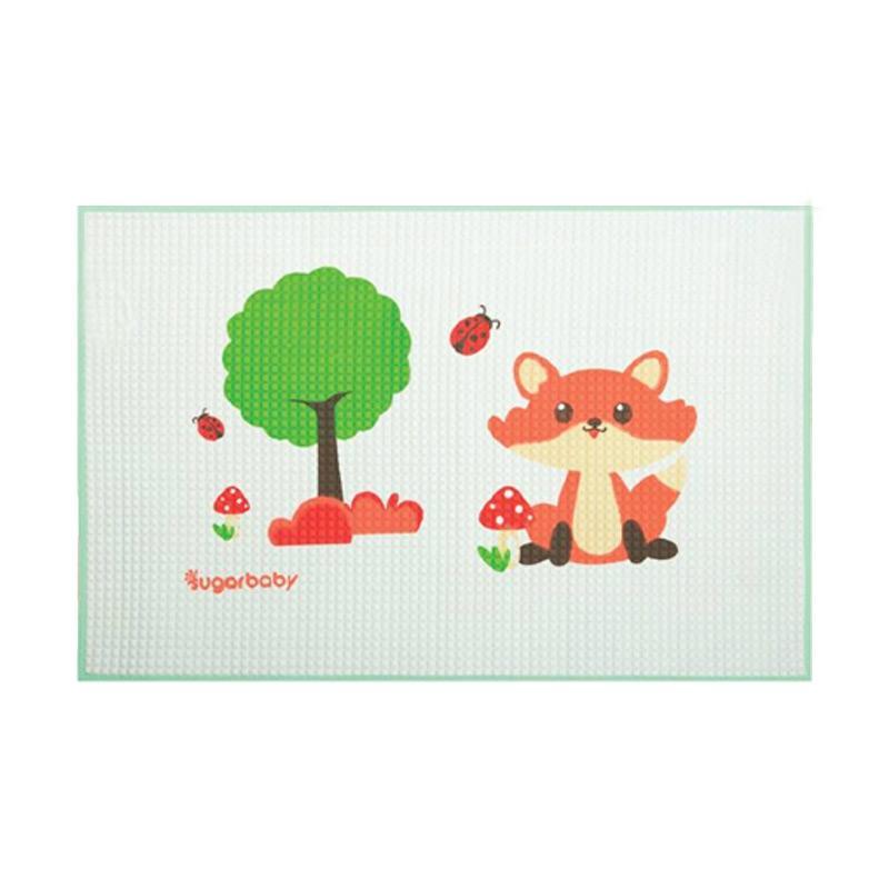 Sugar Baby Organic Healthy Cot Sheet Green Fox Perlak Bayi