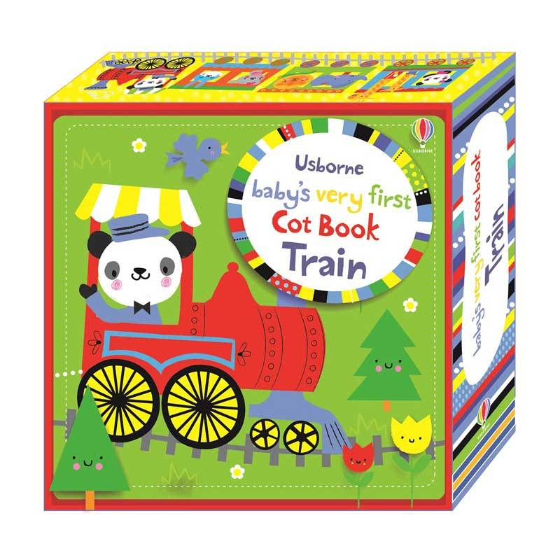 Genius Usborne Baby's Very First Cot Book Train Buku Edukasi Anak