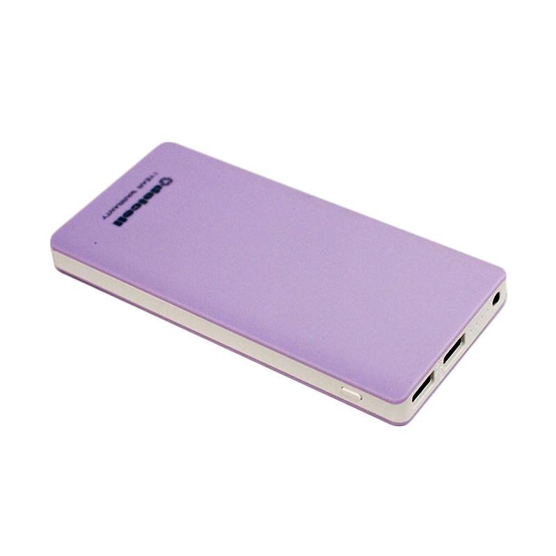 Daftar Harga Delcell ECO Slim Powerbank - Purple [10000 mAh/Real Capacity] Terbaru