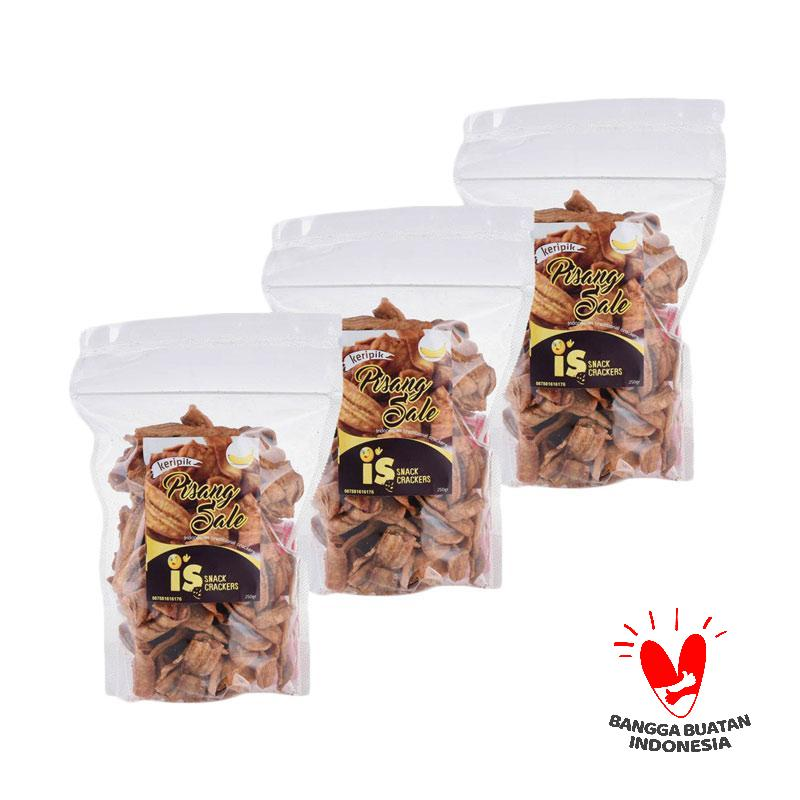 harga IS Snack Crackers Pisang Sale Makanan Kering [3 pcs] Blibli.com