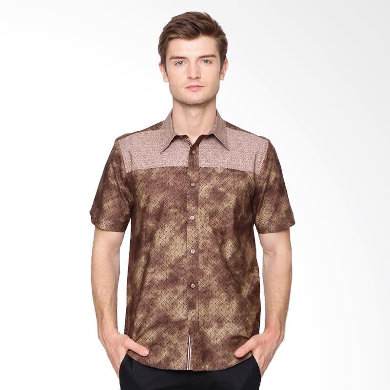 A&D Fashion Casual Short Sleeve Atasan Pria - Brown [Ms 935]