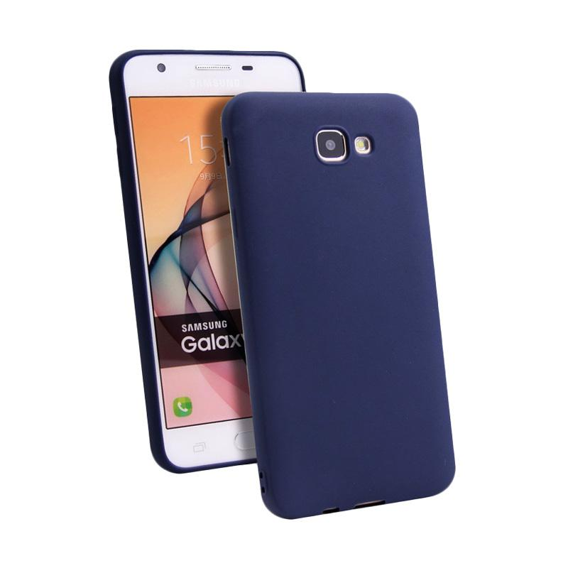 Lize Design Slim Anti Glare Silikon Casing for Samsung Galaxy A520 A5 2017 - Navy