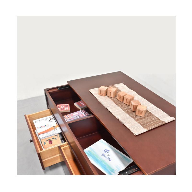 Livien Furniture Larenzo Desk Drawer Meja Tamu