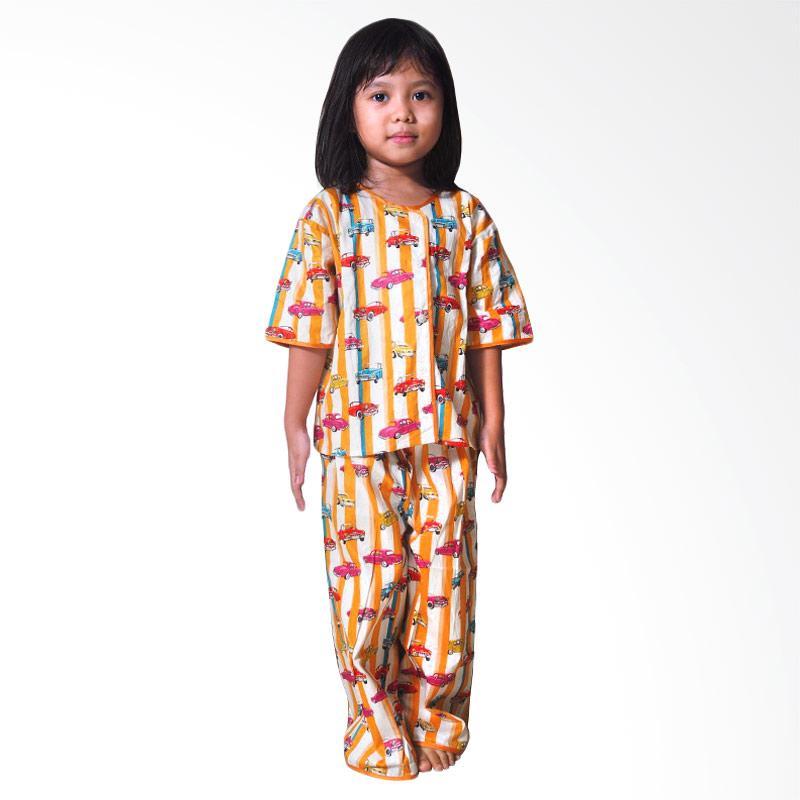 Kirana Kids Wear Car Piyama Anak - Yellow