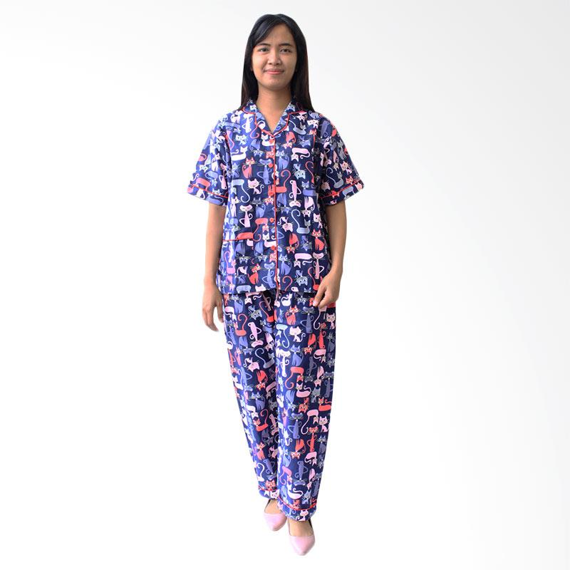 Aily ALY003 Setelan Baju Tidur Wanita - Navy