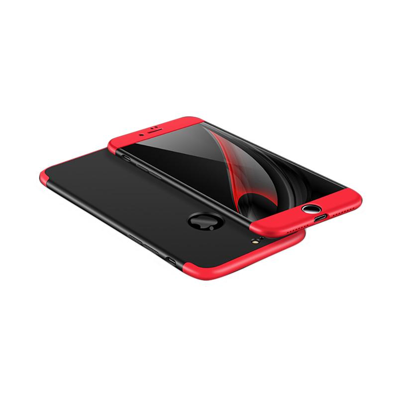 OEM 360 Full Protective 3in1 Hardcase Casing for iPhone 7 Plus - Red Black + Free Screen Protector