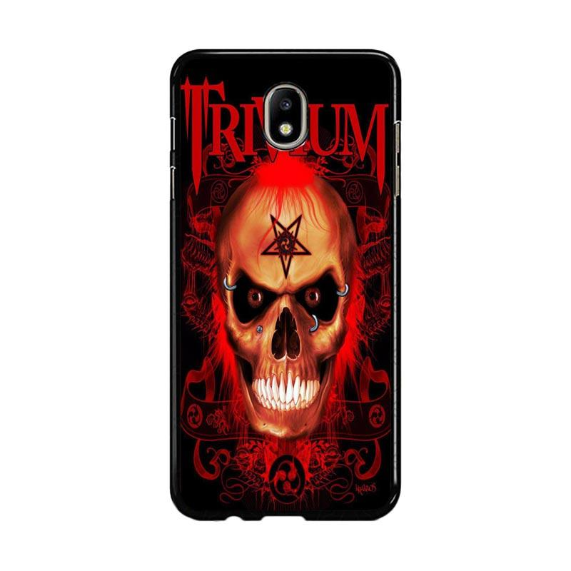 Flazzstore Trivium Red Skull Devil Black Metal Band Logo Z0765 Custom Casing for Samsung Galaxy J7 Pro 2017 - Red